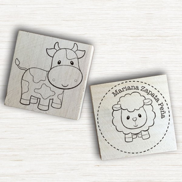 Sellos Animales de Granja - Personalizable