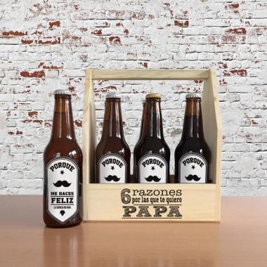 Caja 6 razones por las que te quiero Papá (CON cerveza artesanal)