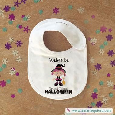 Babero Halloween Brujas - Personalizable