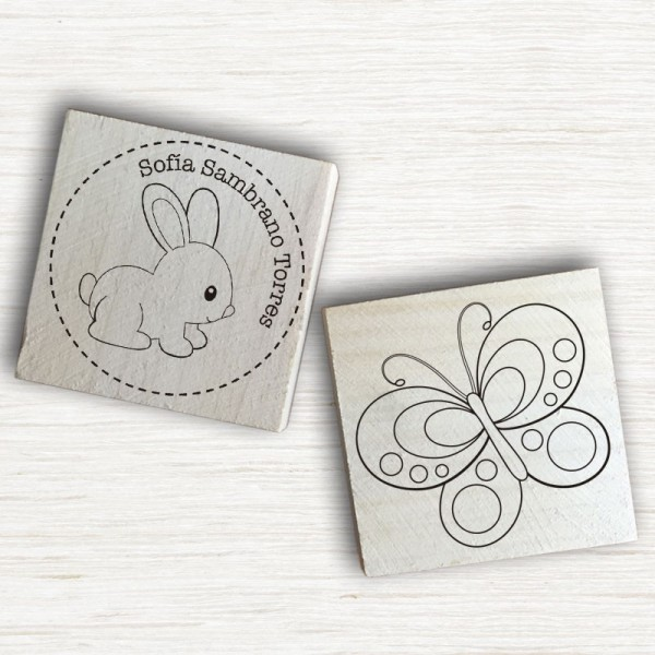 Sellos Papel - Animales del Bosque Personalizables