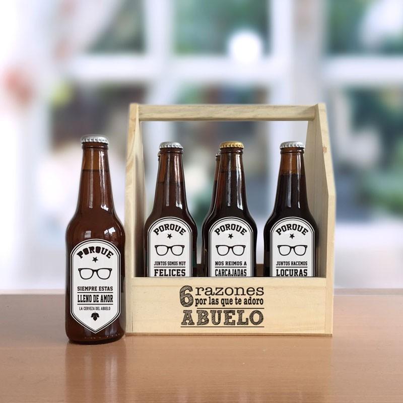 Caja 6 razones por las que te adoro ABUELO (CON cerveza)