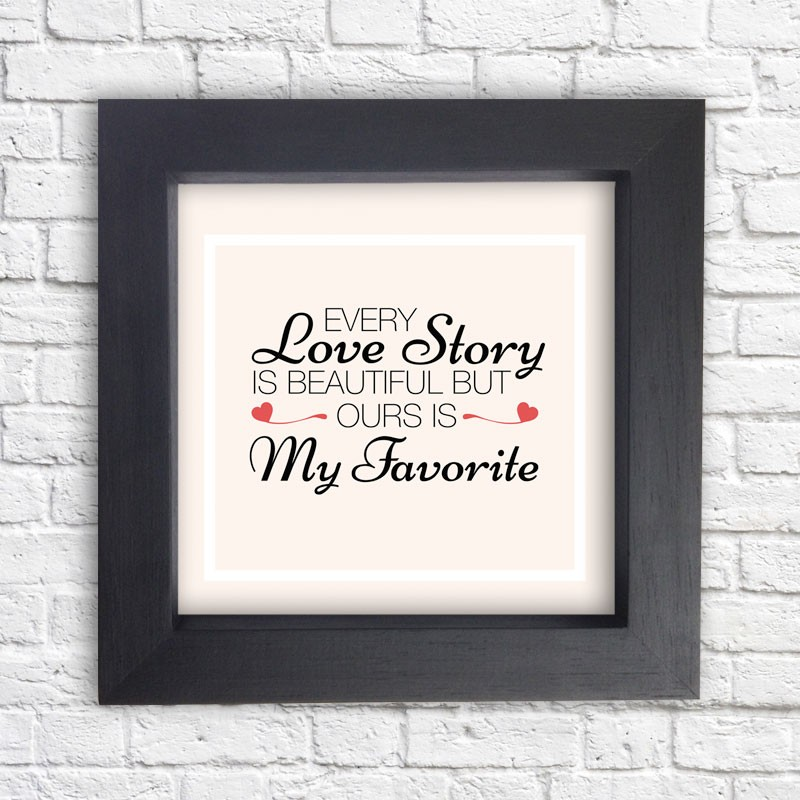 Cuadro 'Our Love Story is my favorite'