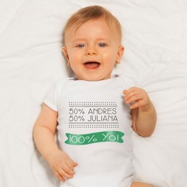 Camiseta YO Nombres Papás - Personalizable