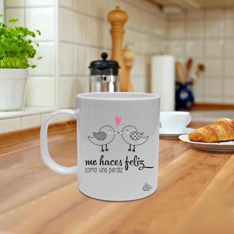 "Mug ""Me haces feliz"""