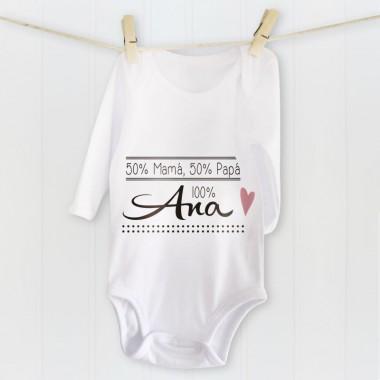 Camiseta Corazón - Nombre Bebé Personalizable